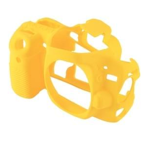 PULUZ siliconen beschermhoes voor Canon EOS 80D(Yellow)