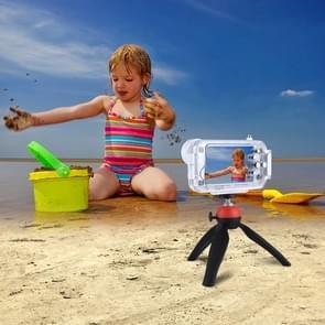 PULUZ voor iPhone 8 & 7 40m / 130ft waterdichte duiken huisvesting Foto Video nemen onderwater Cover Case(White)
