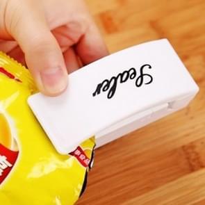 Multi-functie Mini Draagbare handige Plastic zak Sealer afdichten van Machine(White)