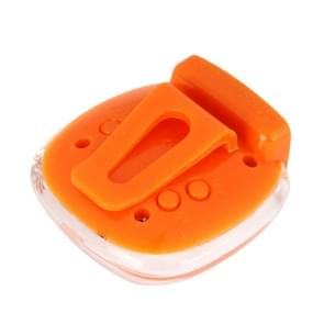 3D hart stijl Crystal Cover Digitale stappenteller  Stap Counter / afgelegde afstand / Calorie Calculator(Orange)