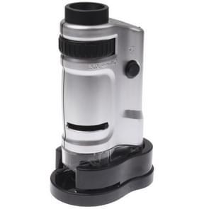 20 x - 40 X vergroting Zoom Lens zak microscoop met LED Light(Silver)