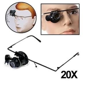 20X Glasses Type Watch Repair Magnifier with LED Light