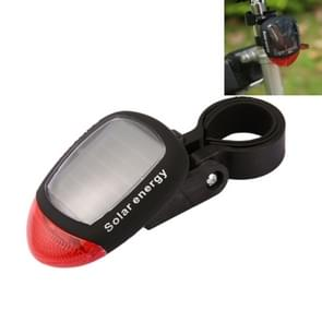 4 Flash Mode Available Solar Energy Rechargeable Bicycle Tail Light with 2 Red LED
