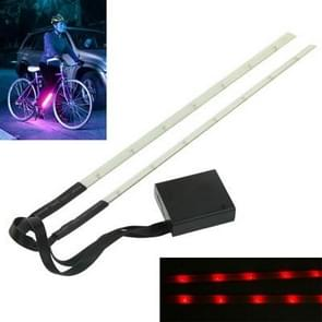 LED Decorative Red Light 2x 7 LED Light Article for Bicycle  Length: 30cm