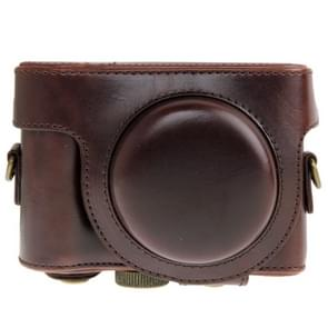 Leather Camera Case Bag for Sony HX50 (Coffee)