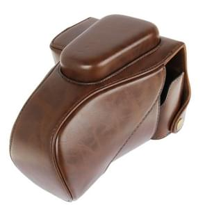 Leather Camera Case Bag for Canon 100D (Brown)