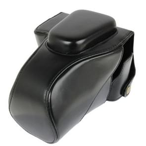 Leather Camera Case Bag for Canon 100D (Black)