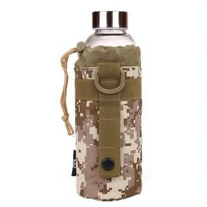 Waterkoker tas militaire waterdichte hoge dichtheid Strong waterkoker taille nylontas  grootte: 17 x 7.5 x 7.5 cm(Camouflage)