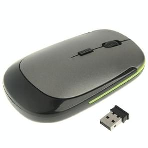 Ultra-dunne draadloze 2.4 GHz Optische USB Muis (grijs)