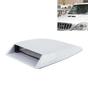 Auto Turbo stijl Air Intake Bonnet primeur voor auto Decoration(White)