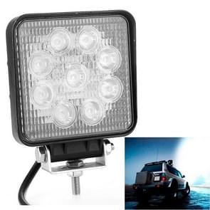 27W Bridgelux 2150lm 9 LED wit licht Floodlight Engineering Lamp / waterdicht IP67 SUV's licht  DC 10-30V(Black)
