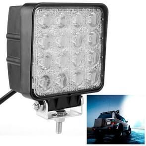 48W Bridgelux 4000lm 16 LED wit licht Floodlight Engineering Lamp / waterdicht IP67 SUV's licht  DC 10-30V(Black)