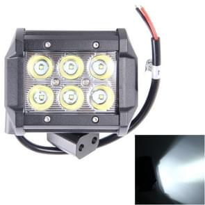 18W CREE 6 LED wit licht condensor Engineering Lamp / waterdicht IP67 SUV's licht  DC 10-30V(Black)