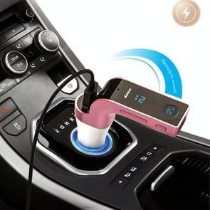 Multifunctionele Bluetooth autolader met auto volledige frequentie FM-zender/stereo MP3-speler voor iPhone 6s & 6s Plus  Galaxy Note 5 & S6 Edge + en de meeste mobiele Bluetooth-apparaten (roze)