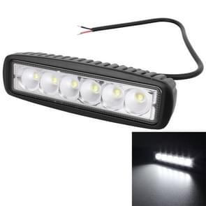 18W 1440LM Epistar 6 LED 25 graden wit Beam auto werk Mistlamp Bar lichte waterdichte IP67  DC 10-30V