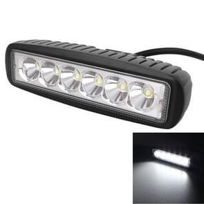 18W 1440LM Epistar 6 LED wit sleuf Beam auto werk Lamp Bar lichte waterdichte IP67  DC 10-30V