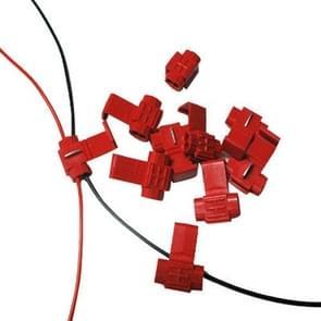 100 stuks Kabel Clip  aan te passen aan de Diameter van de lijn: 0.3-0.7mm(rood)