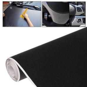 DIY PVC koolstofvezel Crystal Matte Frosted membraan Sticker voor auto  maat: 152cm x 50cm(Black)
