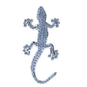 Diamond gecko stijl Chrome badges (zilver)