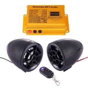 Motorfiets Anti-diefstal Digitale MP3 met 2 5 inch Speaker  FM Radio & Remote Control  Support SD Card & USB Flash Disk(Black)