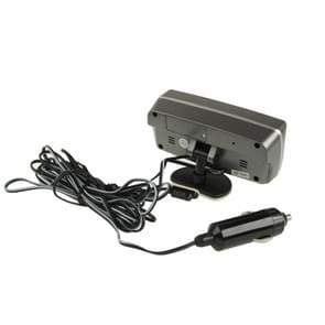 3 6 inch LCD auto Digitale Thermometer met tijd / datum / Week / Alarm / auto opslag batterij spanning Display(Black)