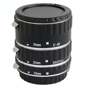 Auto Macro Extension Tube Set for Canon DSLR  Material: ABS + Aluminum Alloy(Black)