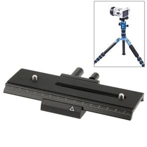 2-way Macro Focus Rail Slider Long-type Tripod Head Plate(Black)