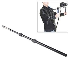 intrekbare schouder houder dslr rig ondersteuning staaf met riem zak voor video camera camcorder (uf-001)