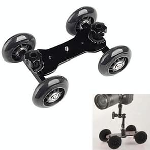 DEBO Video Slider Rail Dolly auto voor Camcorder DSLR Camera (zwart)