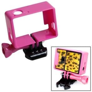 TMC Hoogwaardig statief Houder Frame / behuizing voor GoPro Hero 4 / 3 + 3 HF191 (hard roze)