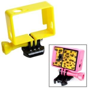 TMC Hoogwaardig statief Houder Frame / behuizing voor GoPro Hero 4 / 3 + 3 HF191 (geel)