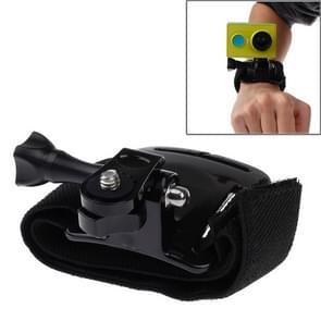 Arm Klittenband Riem / Polsriempje waterdetectie + Houder voor Xiaomi Xiaoyi Sport Camera (zwart)