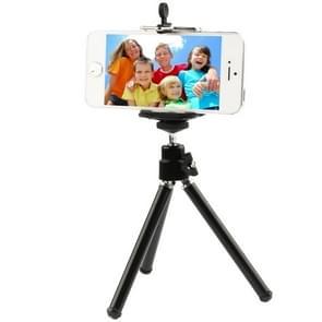 Portable aluminium Tripod Statief voor camera of mobiele telefoon (zwart)