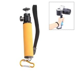 Flitslicht LED lamphouder Handheld Monopod met Gimbal voor DSLR Camera (Oranje)