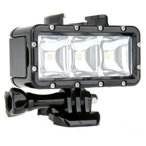 SupTig 30M Waterdicht 300LM Video licht voor GoPro / Dazzne / Yi Camera (zwart)