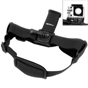 NEOpine GHS-2 Verstelbare hoofdband voor GoPro HERO (2018) 7 / 6 / 5 / 4 / 3+ / 3 / 2 / 1, Xiaomi Yi Sport Camera (zwart)