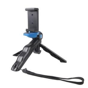 Portable Handgreep / Mini Tripod Statief Standaard met U Type Clip voor GoPro HERO 4 / 3 / 3+ / SJ4000 / SJ5000 / SJ6000 Sports DV / Digitale Camera / mobiele telefoon (blauw)