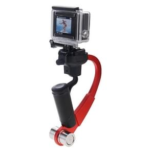 Aluminiumlegering Steadicam Handheld stabilisator Steadicam Smoothee Camera Mount voor GoPro HREO4 /3+ /3 /2 /1 Digitale Cameras(rood)