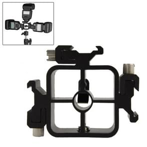 3 Triple Head Hot Shoe Mount Adapter Flash Holder Bracket Light Stand holder (XF0003)