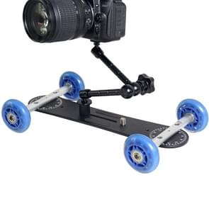 YELANGU YLG0105A Mini geschaalde Camera Dolly Rail Auto voor Canon / Nikon DSLR Camera