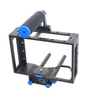 YELANGU YLG0107E Beschermende Top Handgreep Kooi Stabilisator Set voor DSLR Camera (zwart)