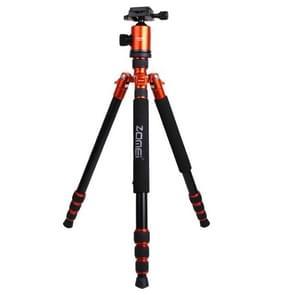 ZOMEI Z888 Professioneel Portable Statief Aluminium Tripod Monopod Standaard met Balhoofd voor Digitale Camera (Oranje)