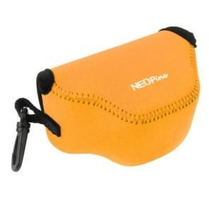 NEOpine Neopreen schokbestendige Camera Tas Hoes met Haak voor Nikon J4 Camera (Oranje)