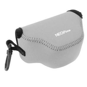 NEOpine Neopreen schokbestendige Camera Tas Hoes met Haak voor Nikon J4 Camera (grijs)