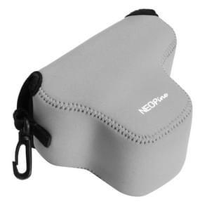 NEOpine Neopreen schokbestendige Camera Tas Hoes met Haak voor Olympus E-PL7 Camera (grijs)