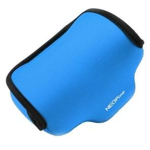 NEOpine Neopreen schokbestendige Camera Tas Hoes met Haak voor Fujifilm X30 Camera (blauw)