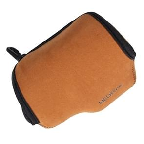 NEOpine Neoprene Soft Case Bag with Hook for Sony A6000 Camera 16-50mm Lens(Brown)