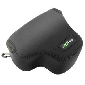 NEOpine Neopreen schokbestendige Camera Tas Hoes met Haak voor Canon PowerShot G3X Camera (zwart)