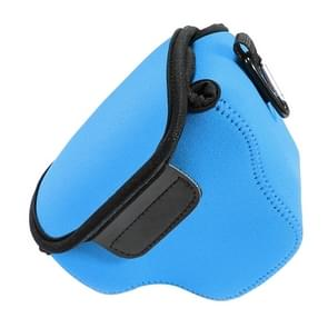 Mini Portable Neoprene Camera Bag & Case for Canon SX520 HS  Size: 10*10*13cm(Blue)