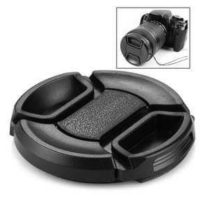 52mm Center Pinch Camera Lens Cap(Black)